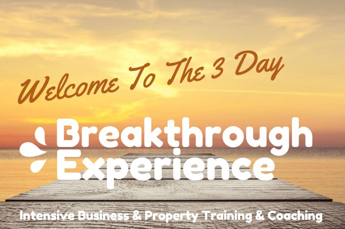 welcome to the 3 day breakthrough experience